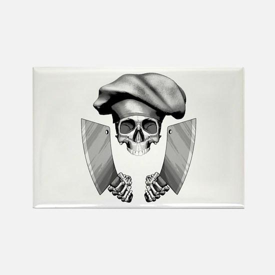 Chef skull: v1 Rectangle Magnet