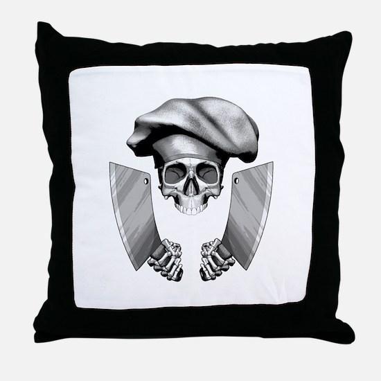 Chef skull: v1 Throw Pillow