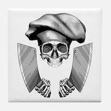 Chef skull: v1 Tile Coaster