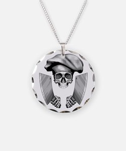 Chef skull: v1 Necklace Circle Charm