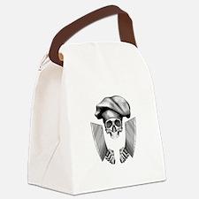 Chef skull: v1 Canvas Lunch Bag