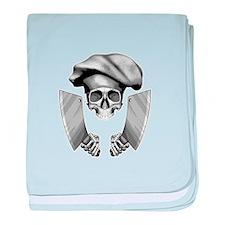 Chef Skull baby blanket