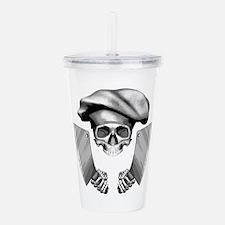 Chef skull: v1 Acrylic Double-wall Tumbler