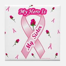 My Hero My Sister Tile Coaster