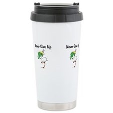 Cute Never give up Travel Mug
