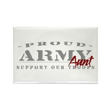 Proud Army Aunt (red) Rectangle Magnet
