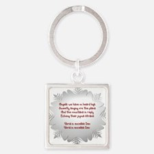 Angels We Have Heard on High Square Keychain