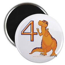 Kids Dino 4th Birthday Gifts Magnet