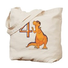 Kids Dino 4th Birthday Gifts Tote Bag