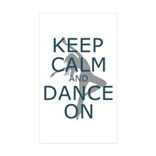 Keep Calm and Dance On Teal Decal