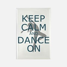 Keep Calm and Dance On Teal Magnets