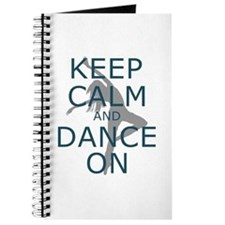 Keep Calm and Dance On Teal Journal
