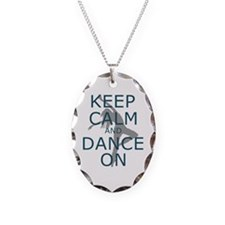 Keep Calm And Dance On Teal Necklace
