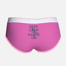 Keep Calm And Dance On Teal Women's Boy Brief