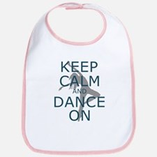 Keep Calm And Dance On Teal Bib