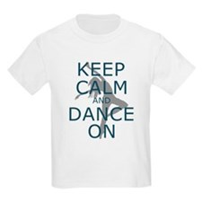 Keep Calm and Dance On Teal T-Shirt