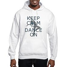Keep Calm and Dance On Teal Hoodie