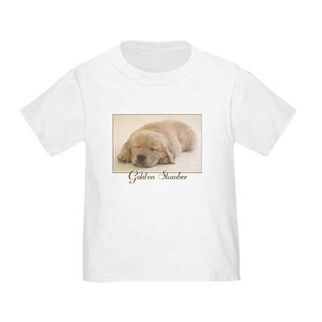 """Golden Retriever Slumber"" Toddler T-Shirt"