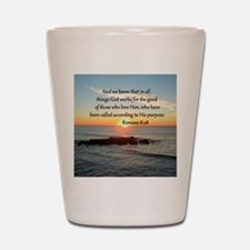 ROMANS 8:28 Shot Glass