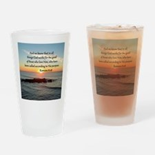 ROMANS 8:28 Drinking Glass