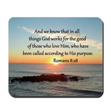 ROMANS 8:28 Mousepad