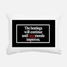 Beatings Morale Rectangular Canvas Pillow