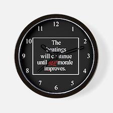 Beatings Morale Wall Clock