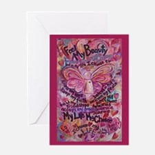 Pink Cancer Angel Greeting Card