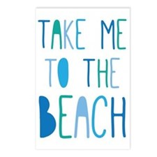 Take Me To The Beach Postcards (Package of 8)