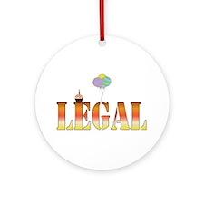 Finally Legal Birthday Ornament (Round)