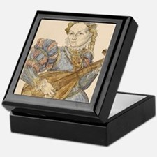 Lute palyer, 16th c engraving by Stim Keepsake Box