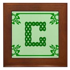 Unique Celtic c Framed Tile