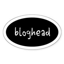 bloghead Oval Decal