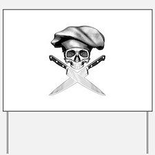 Chef skull: v2 Yard Sign