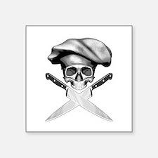 """Chef skull: v2 Square Sticker 3"""" x 3"""""""