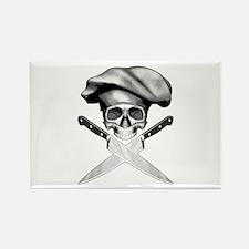 Chef skull: v2 Rectangle Magnet (100 pack)