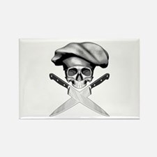 Chef skull: v2 Rectangle Magnet