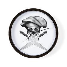 Chef Skull: 2 Wall Clock