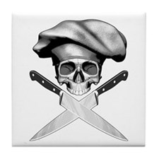 Chef Skull: 2 Tile Coaster