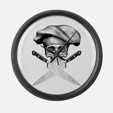 Chef skull: v2 Large Wall Clock