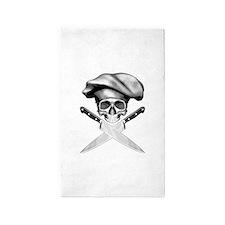 Chef Skull: 2 3'x5' Area Rug