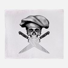 Chef skull: v2 Throw Blanket