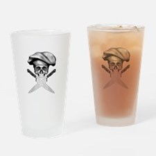 Chef skull: v2 Drinking Glass