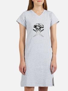 Chef skull: v2 Women's Nightshirt