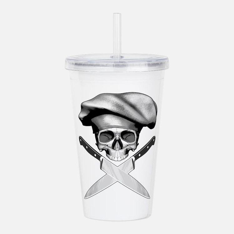 Chef skull: v2 Acrylic Double-wall Tumbler