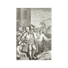 William Hogarth's Stages of Cruel Rectangle Magnet