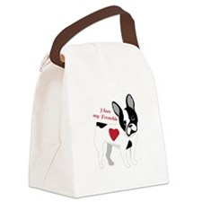 Love My Frenchie Canvas Lunch Bag