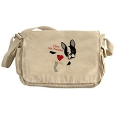 Love My Frenchie Messenger Bag
