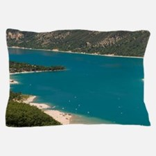 Lake Sainte Croix, Provence, France. Pillow Case