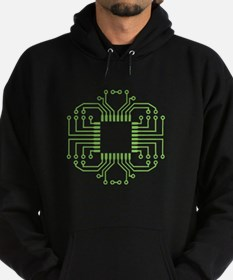 Electric Circuit Board Processor Hoodie